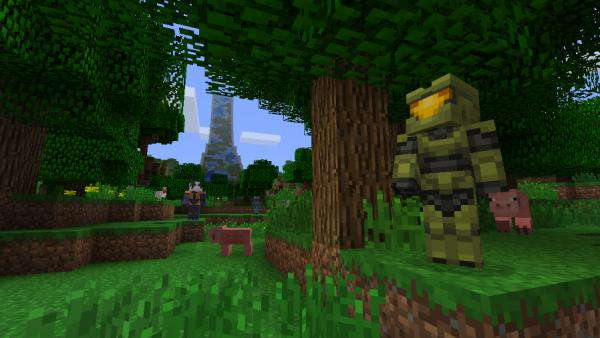Halo y Gears of War llegan al Minecraft de Switch
