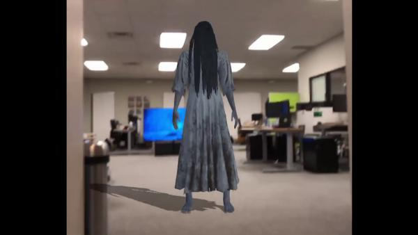 Recrean una famosa escena de The Ring en Realidad Aumentada