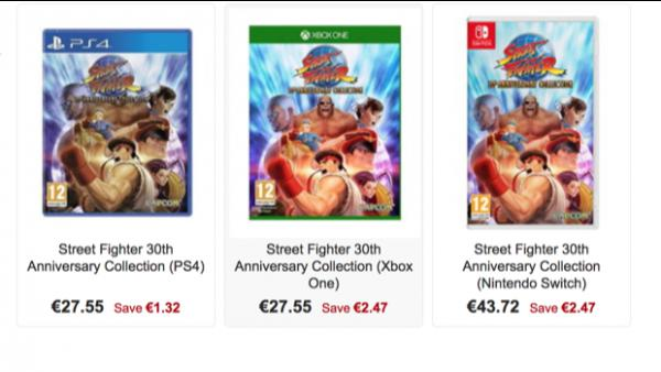 Street Fighter 30th Collection llegará en físico a Europa