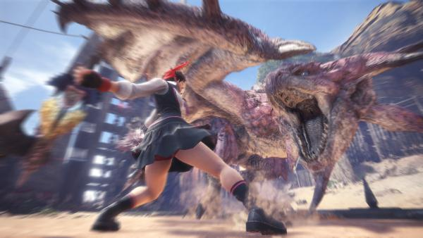 Sakura, de Street Fighter, llegará a Monster Hunter World