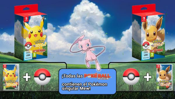 Anunciado el pack Pokémon Let's Go + Poké Ball Plus