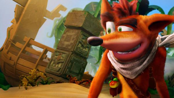 Así se ve Crash Bandicoot N. Sane Trilogy en Switch