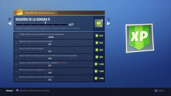 Fortnite Battle Royale: Temporada 4 Desafíos Semana 9