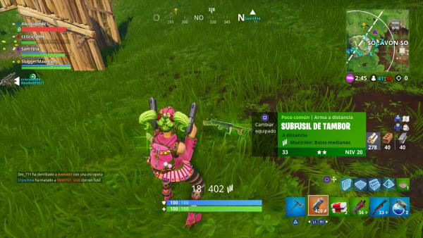 Así es el Subfusil de Tambor en Fortnite Battle Royale