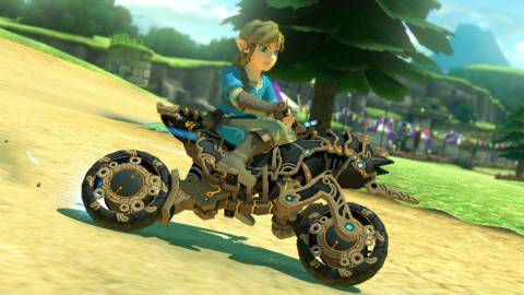 Mario Kart 8 Deluxe se actualiza con Link de Breath of the Wild