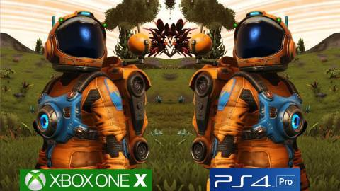 No Man's Sky: Comparativa gráfica Xbox One X con PS4 Pro
