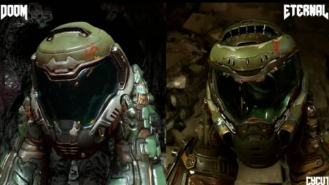 Comparan los gráficos de DOOM Eternal con DOOM (2016)