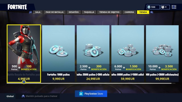 fortnite battle royale tienda