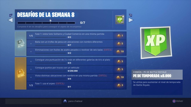 Fortnite Battle Royale Desafios De La Semana 8 De La Temporada 6