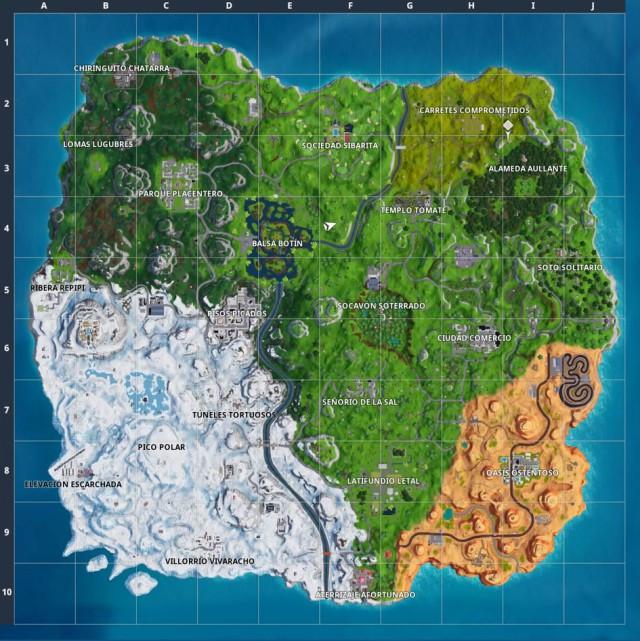 fortnite battle royale temporada 7 mapa