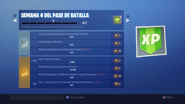 Fortnite Battle Royale Desafios De La Semana 4 De La Temporada 7
