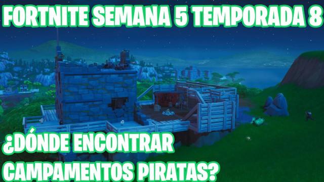 Desafio De Fortnite Donde Estan Los Campamentos Piratas