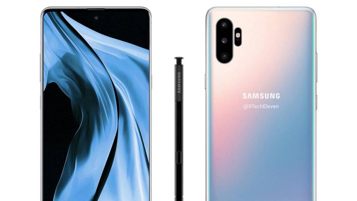 f8f1e0e6a52 Samsung Galaxy Note 10, filtrado su aspecto con tres cámaras ...