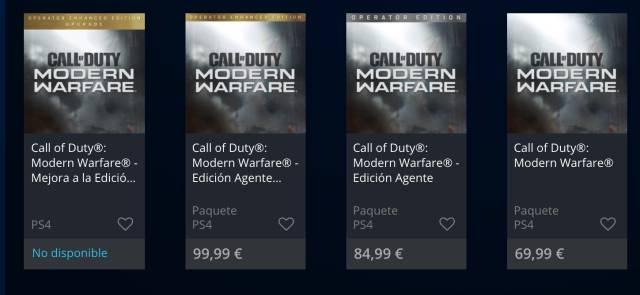 Call of Duty: Modern Warfare, reserva, edición digital