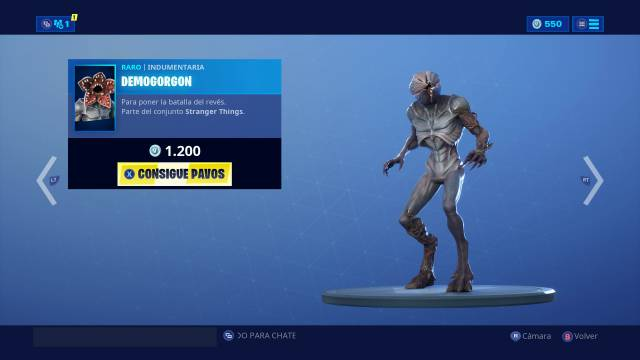 Fortnite: ya disponibles las skins de Demogorgon y Jefe Hopper, de Stranger Things