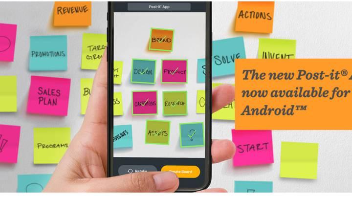 Las notas Post-it ya tienen versión app para móviles Android