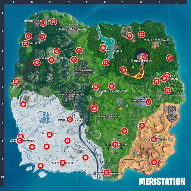 fortnite battle royale temporada 10 temporada x desafios taquillazo desafio usa maquinas expendedoras en partidas distintas mapa