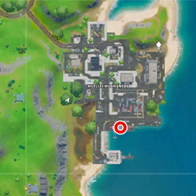 fortnite capitulo 2 temporada 1 desafios trato del astillero desafio busca la letra t escondida en la pantalla de carga de trato del astillero mapa