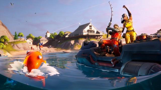fortnite capitulo 2 temporada 1 desafios mar adentro desafio busca la o escondida en la pantalla de carga de mar adentro