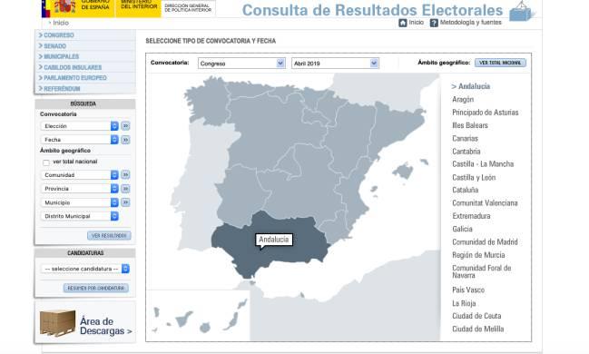 Mapa Region De Murcia Elecciones.Donde Consultar Los Resultados De Las Elecciones Por