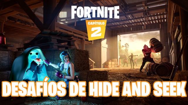 fortnite capitulo 2 temporada 1 desafios hide and seek