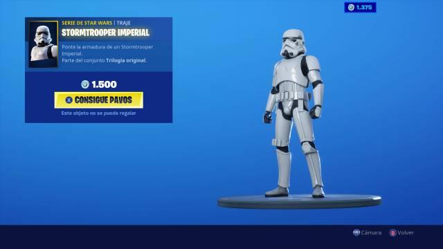 Star Wars llega a Fortnite: consigue la skin de un Stormtrooper Imperial