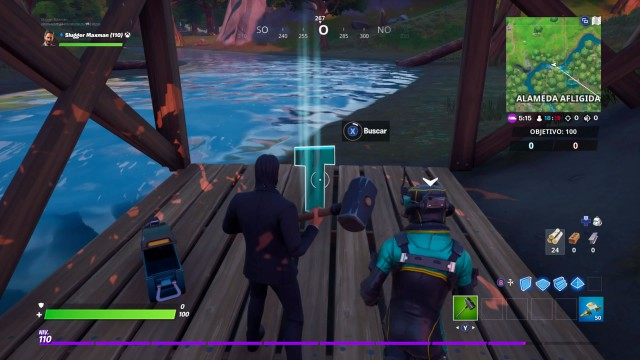 fortnite chapter 2 season 1 challenges shot with trick challenge looking for the t hidden in the loading screen shot with trick