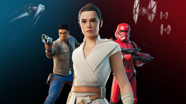 fortnite x star wars episodio ix skins finn rey sith trooper