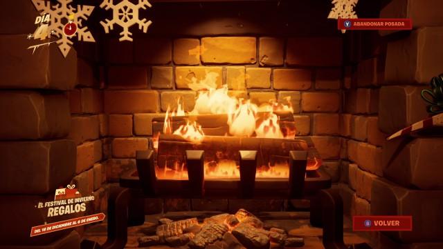 fortnite capitulo 2 temporada 1 desafios festival de invierno 2019 desafio fase 2 de 2 entra en calor junto al fuego en la posada del festival de invierno