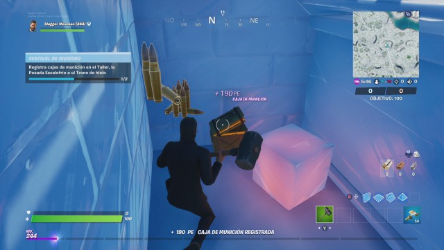 fortnite chapter 2 season 1 challenges winter festival 2019 defy phase 2 of 2 records boxes municion in the workshop the lodge chills or the throne of ice