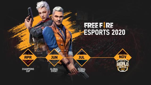 Free Fire prepara 4 torneos internacionales para este 2020