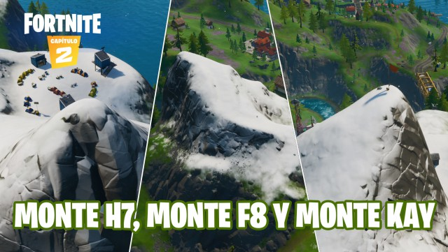 fortnite chapter 2 season 1 challenges cameo vs chic challenge dance at the top of the mountain h7 mount f8 and monte kay