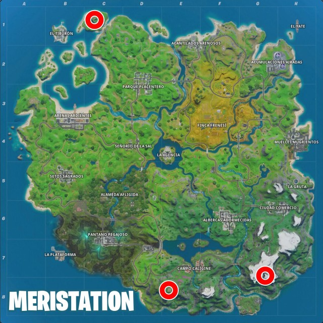 Fortnite Chapter 2 Season 2 Challenges Brutus Report Challenge Land at Lockie Apres Ski Lighthouse and Mount Kay Map