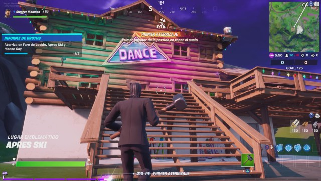 fortnite chapter 2 season 2 challenges report of brutus defy lands in faro de lockie apres ski and monte kay