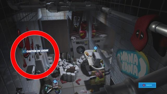 fortnite capitulo 2 temporada 2 desafios de deadpool semana 2 desafifo encuentra el carton de leche de deadpool
