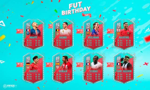 FUT Birthday FIFA 20: así es su primer equipo con Griezmann, Mbappé y Hazard