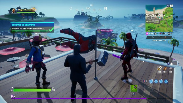 fortnite chapter 2 season 2 challenges of deadpool week 9 challenge greets the pants of deadpool