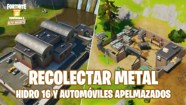 fortnite chapter 2 season 2 challenges domination of the location challenge collects metal in hydro 16 or automobiles caked