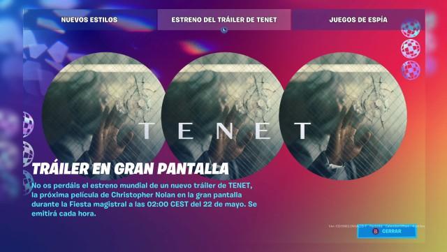 fortnite chapter 2 season 2 event tenet christopher nolan world premiere trailer