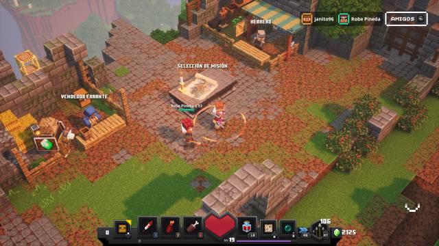 Minecraft Dungeons análisis xbox one x ps4 nintendo switch pc