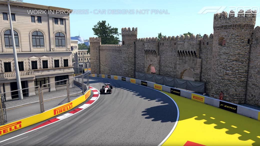 F1 2020 muestra el circuito de Bakú a través del Alfa Romeo de Giovinazzi - MeriStation