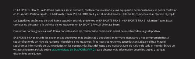 EA Sports Roma