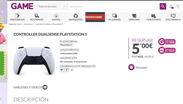 Reservas de PS5