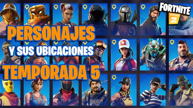 fortnite chapter 2 season 5 characters npc locations location where to find them