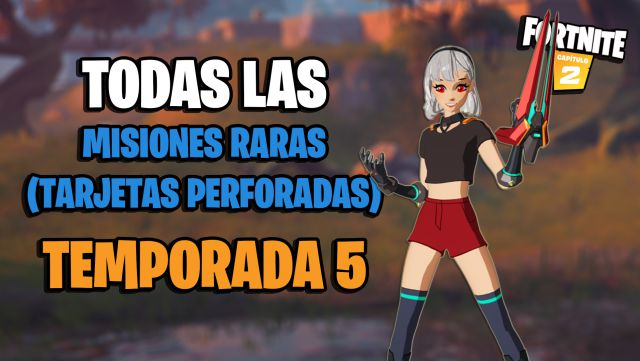 fortnite chapter 2 season 5 rare missions punch cards list how to complete them