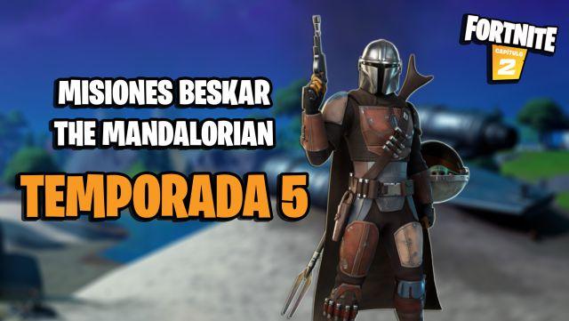 fortnite chapter 2 season 5 missions beskar the mandalorian