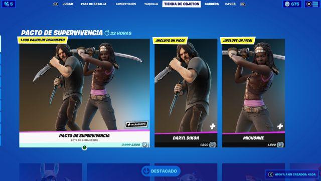 Fortnite: skins Daryl Dixon y Michonne de The Walking Dead ya disponibles -  MeriStation