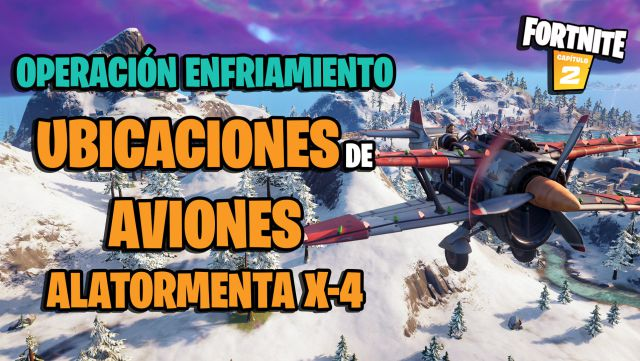 fortnite chapter 2 season 5 operation cooling aircraft airplane wing storm x4 locations where they are