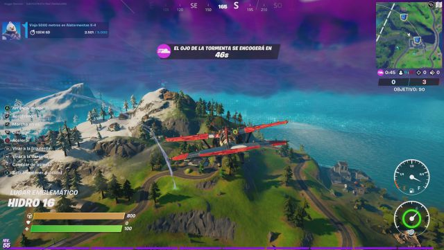 fortnite chapter 2 season 5 operation cooling challenges missions challenge mission travel 5000 meters in storm wings x4