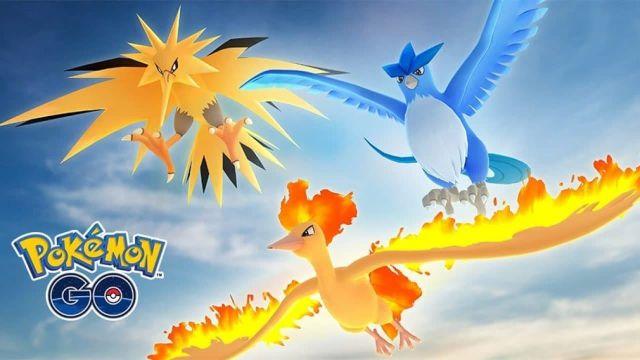 Articuno, Zapdos y Moltres en Pokémon GO